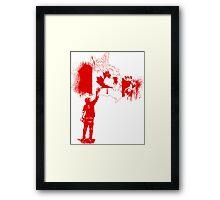Canada Tagger Framed Print