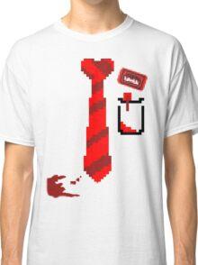 Shaun of the dead 8-bit no sneeve badge Classic T-Shirt