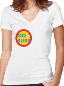 QQ surf  Women's Fitted V-Neck T-Shirt