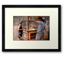 Carnival- Candy - Getting cotton candy  Framed Print