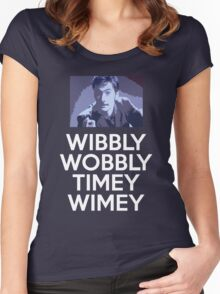 WIBBLY TENNANT Women's Fitted Scoop T-Shirt