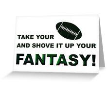 Shove It Fantasy Football Humor Greeting Card