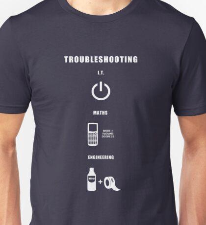 Troubleshooting (dark shirt) Unisex T-Shirt