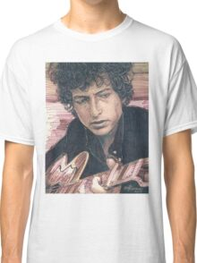 BOB DYLAN PORTRAIT IN INK Classic T-Shirt