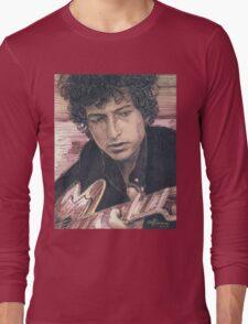 BOB DYLAN PORTRAIT IN INK Long Sleeve T-Shirt