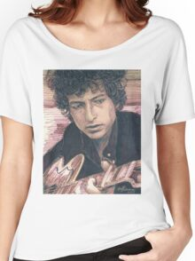 BOB DYLAN PORTRAIT IN INK Women's Relaxed Fit T-Shirt