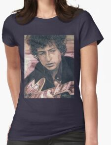 BOB DYLAN PORTRAIT IN INK Womens Fitted T-Shirt