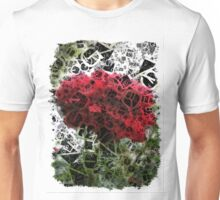 Red Rose with Light 1 Letters 4 Unisex T-Shirt