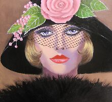 LADY IN A FANCY HAT by Dian Bernardo