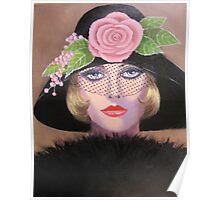 LADY IN A FANCY HAT Poster