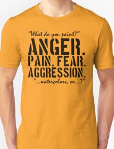Spaced | Anger. Pain. Fear. Aggression. T-Shirt