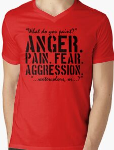 Spaced   Anger. Pain. Fear. Aggression. Mens V-Neck T-Shirt