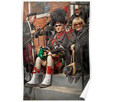 Music - Bag Pipes - Somerville, NJ - Piper resting Poster