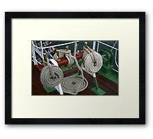 BRASS AND ROPE Framed Print