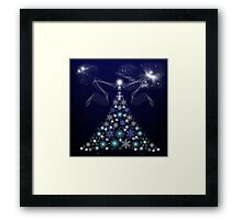 Christmas Tree and Space Framed Print