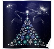 Christmas Tree and Space Poster