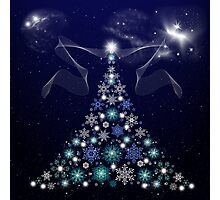 Christmas Tree and Space Photographic Print