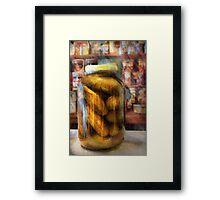 Food - Vegetable - A jar of pickles Framed Print