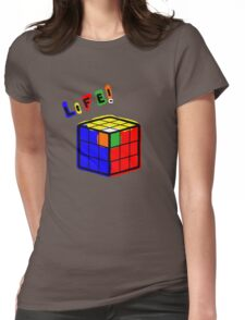 life is a rubiks cube Womens Fitted T-Shirt