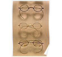 Optometrist - Simple gold frames Poster