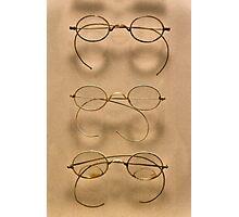 Optometrist - Simple gold frames Photographic Print