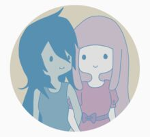 Marceline and Princess Bubblegum by Christina Oh