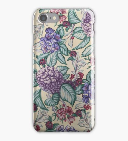 Pink, Purple, Blue Blossoms iPhone Case/Skin