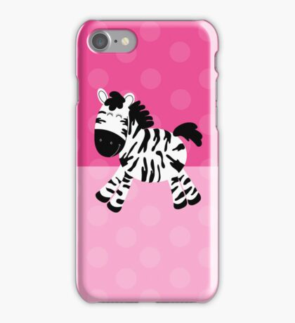 Sweet Cute Zebra Pink Dot Phone Case iPhone Case/Skin