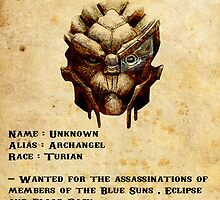 Garrus wanted poster by icemanire
