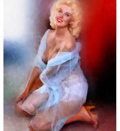 Vintage Pinup by Frank Falcon Sticker