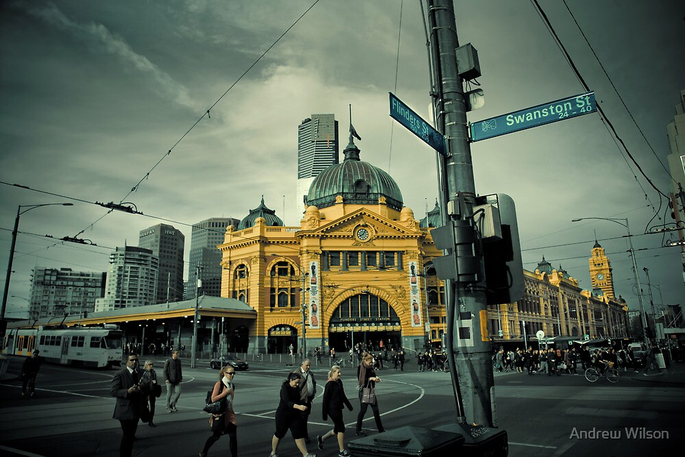 Flinders St Morning by Andrew Wilson