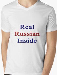 Real Russian Inside Mens V-Neck T-Shirt