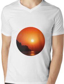 Sunset at the sea Mens V-Neck T-Shirt