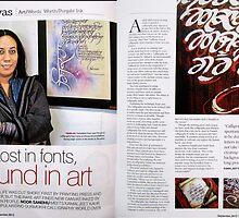 URBAN MELANGE!...A lifestyle magazine covers about calligraphy by Kamaljeet! by kamaljeet kaur