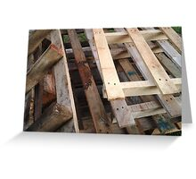 palletwood Greeting Card