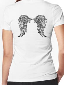 Angel Wing Women's Fitted V-Neck T-Shirt