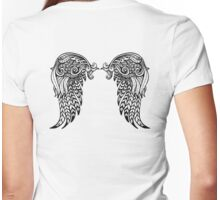 Angel Wing Womens Fitted T-Shirt
