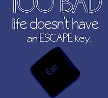 Escape Key by geekchicprints