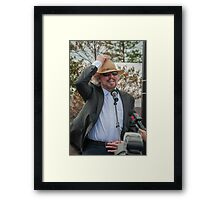 Barry Gibb at Redcliffe 2013 Framed Print