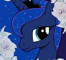Luna with moon flowers  by Arielle Campbell
