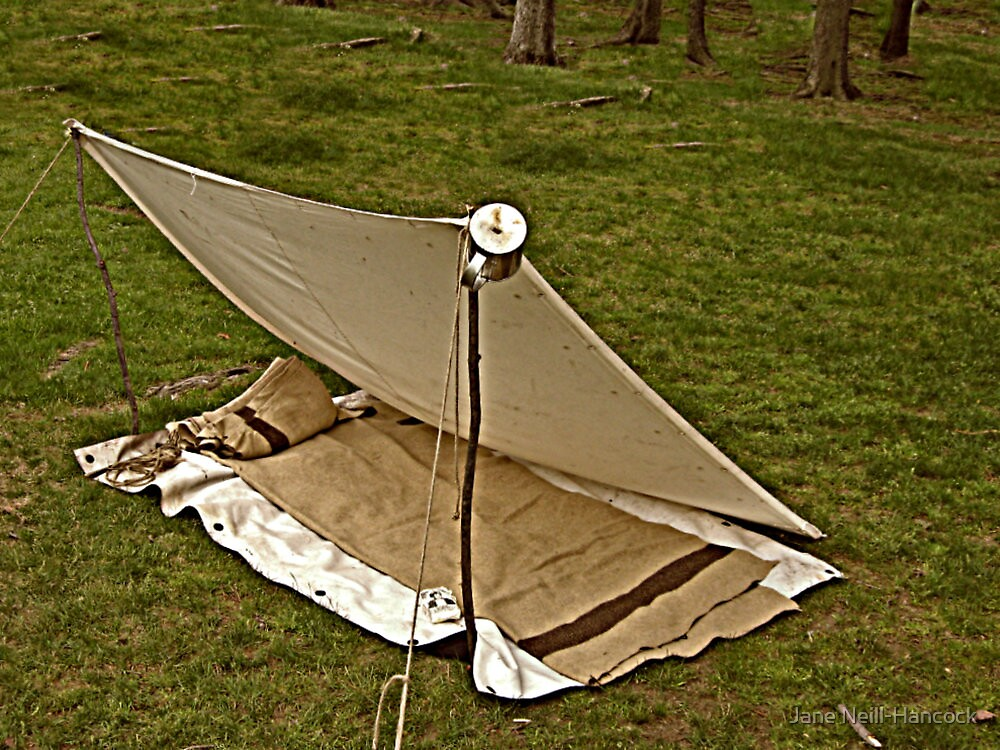 Replica of a Civil War Soldier's Tent by Jane Neill-Hancock