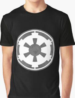 Galactic Empire Logo Grey Graphic T-Shirt