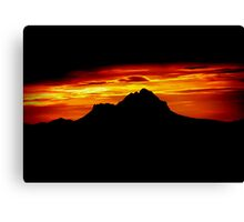 Sunset Peak Over Shadowed Canvas Print