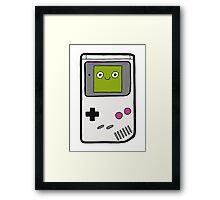 Retro Gameboy Character Framed Print