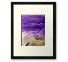 Wetland (Charoite) Framed Print