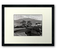 Hobart & Mt Wellington from Kangaroo Bluff Framed Print