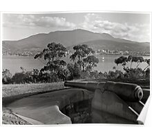 Hobart & Mt Wellington from Kangaroo Bluff Poster