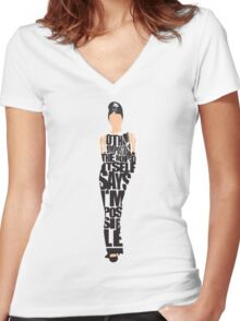 Audrey Hepburn - The Breakfast at Tiffany's Women's Fitted V-Neck T-Shirt