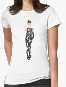 Audrey Hepburn - The Breakfast at Tiffany's Womens Fitted T-Shirt
