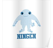 Cute Cartoon Ningen Poster